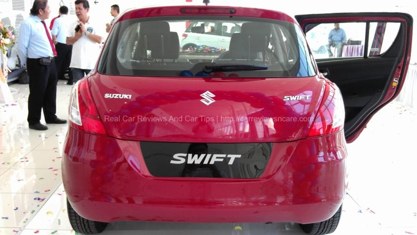 Suzuki Swift 1.4 CBU Rear View