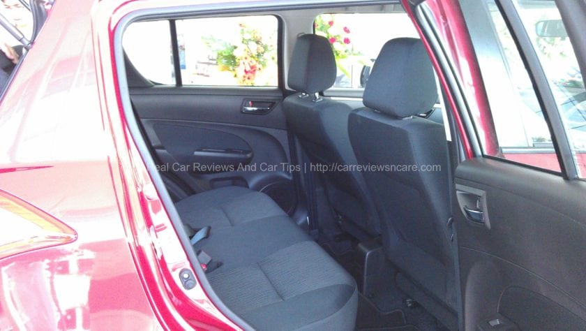 Suzuki Swift 1.4 CBU Bigger legroom for rear passenger