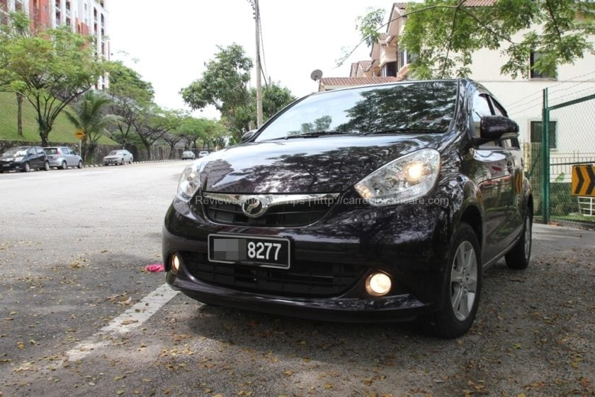 Purple Myvi 1.3 Front View
