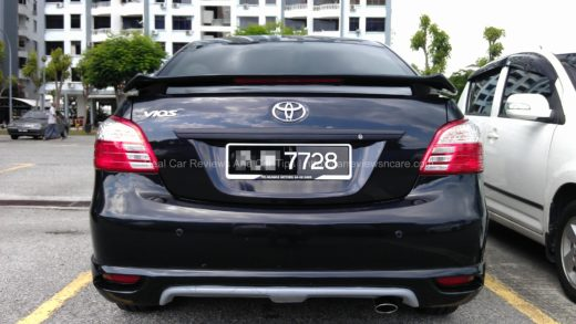 Carbon Fiber on Rear Bar Toyota Vios