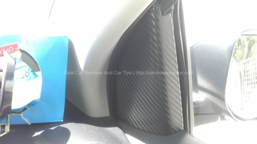 Internal Plastic Cover Carbon Fiber on Toyota Vios