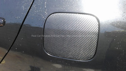Fuel Cap Carbon Fiber on Toyota Vios