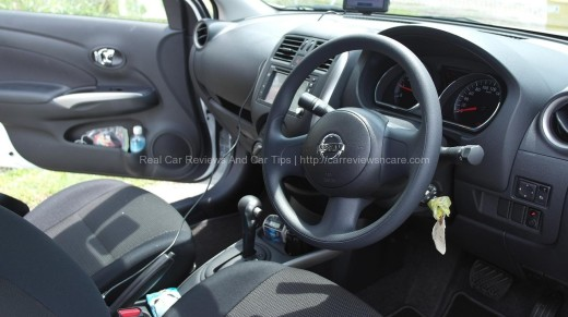 Interior of Nissan Almera