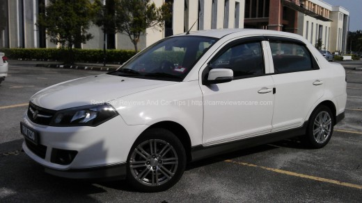 Side View of Proton Saga FLX 1.6 SE