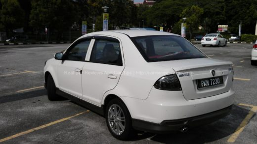 Rear View of Proton Saga FLX 1.6 SE