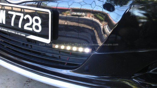 Bright Daylight Running Light (DLR) on Toyota Vios