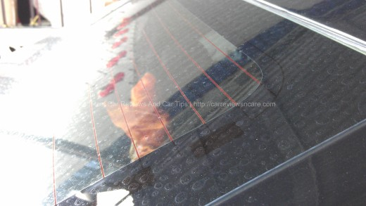 Water Marks On Rear Windscreen