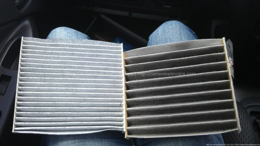 Awesome New (left) And Used Cabin Air Filter For Toyota Vios