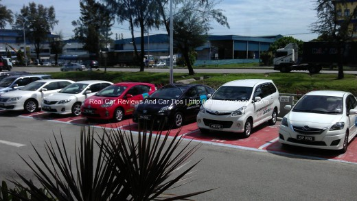 Test Drive Units in Toyota Service Center Prai
