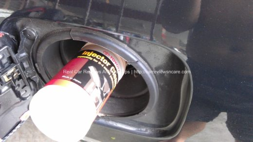 Pouring Fuel Injector Cleaner into my Toyota Vios petrol tank