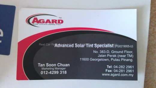 AGARD Advanced Solar Tint Specialist Card