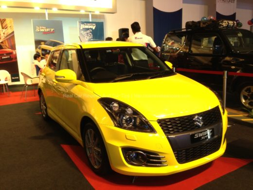 Suzuki Swift Sport Yellow Front View