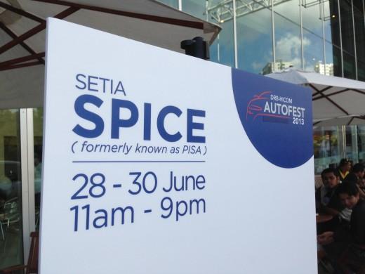 DRB-HICOM AUTOFEST 2013 Event at SETIA SPICE