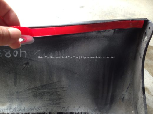 IMG 0522 520x390 DIY: Car Body Kits Installation    Toyota Vios 2010 Rear Skirt (with Video)