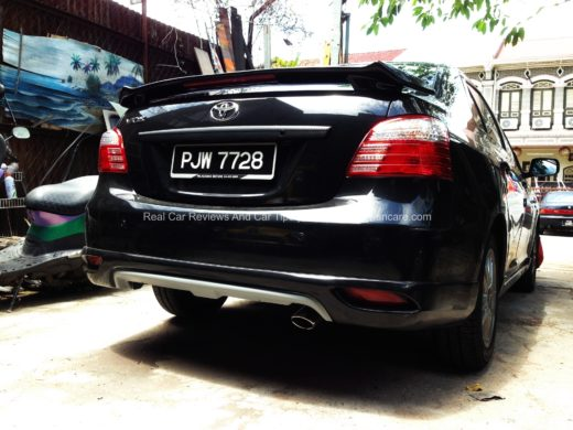 IMG 0717 edited 520x390 DIY: Car Body Kits Installation    Toyota Vios 2010 Rear Skirt (with Video)