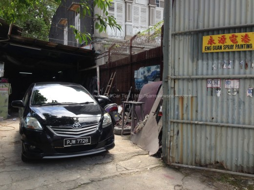 Toyota Vios GT Street in the Car Body Spray