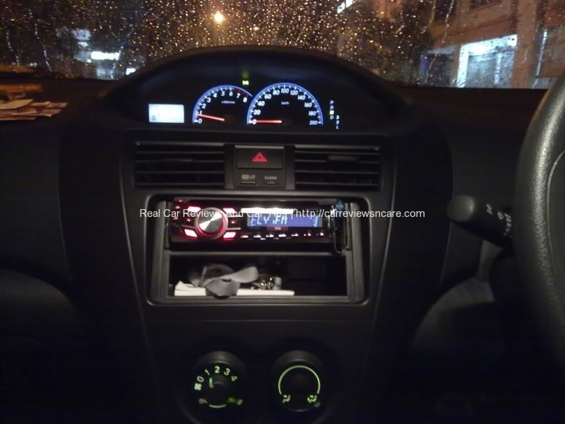 DEH-2350UB player in the Toyota Vios