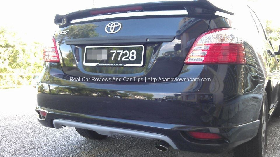 Rear view of Toyota Vios GT Street
