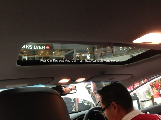 Naza Kia Cerato 2.0 Sunroof from Interior