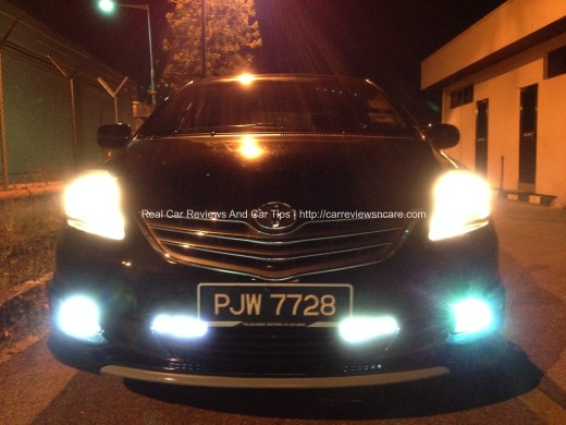 Toyota Vios GT Street Front View during Night time