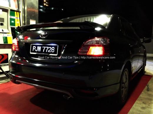 Toyota Vios GT Street Rear View