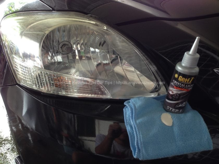 Getf1 Crystal Light Headlamps Polisher on cloves