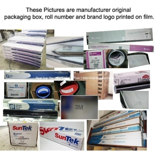 Car Window Tint Film Original Packaging