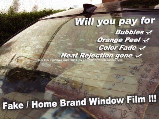 Fake/Home Brand Window Tint Film Fact