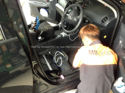 Installation of Philips Active Subwoofer into Toyota Vios