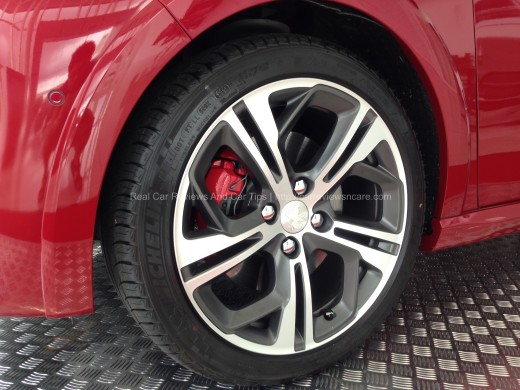 "Peugeot 208 GTi 17"" Two Tone Carbon Alloys"