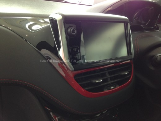 Peugeot 208 GTi Interactive and Colorful Touchscreen