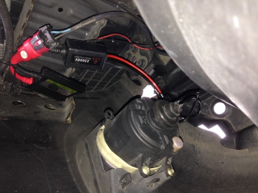 Remove Toyota Vios HID fog lamps