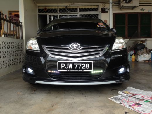 Toyota Vios LED fog lamps completed