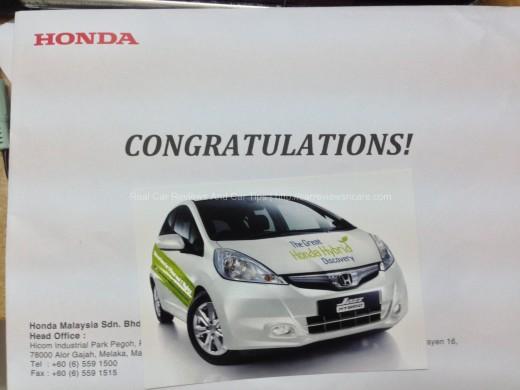Honda Jazz Hybrid Envelope