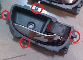 rd5 Toyota Vios Door Handle Covers Installation