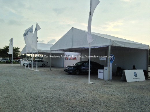 Volkswagen On Tour Test Drive Booth 2013