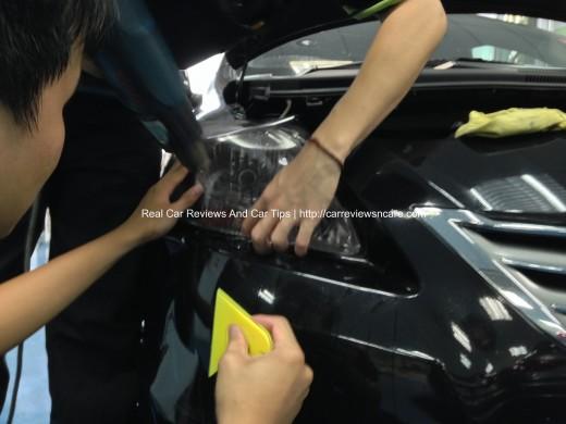 Toyota Vios Headlamp Tint Installation 2