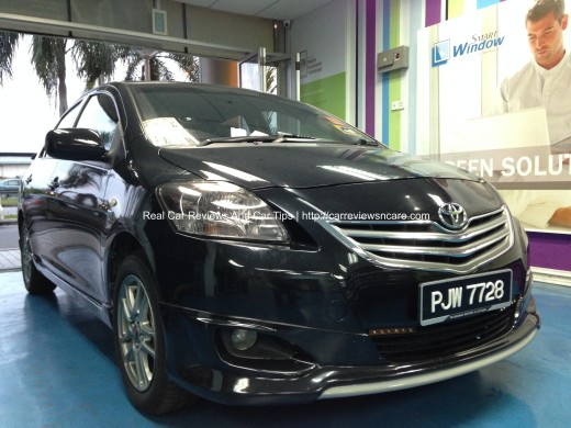 Toyota Vios Headlamp Tint Completed 2