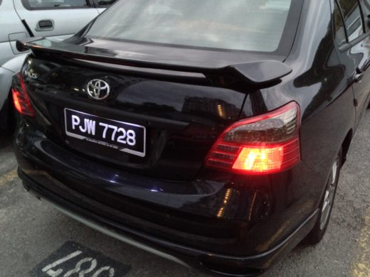 Tinted Toyota Vios Tail Lamp 4