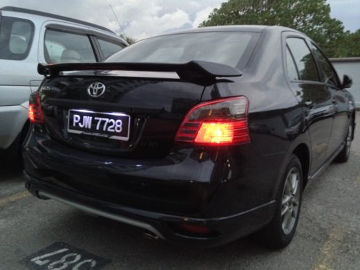 Tinted Toyota Vios Tail Lamp 5
