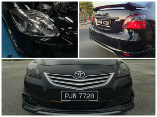 Toyota Vios Tinted Headlamp and Tail Lamp