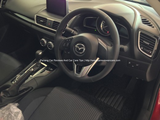 2014 Skyactiv Mazda 3 2.0L Interior with Carbon Fiber Vinyl