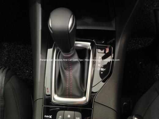 All new Skyactiv Mazda 3 2.0L SKYACTIV-Drive 6-speed automatic transmission with sport mode