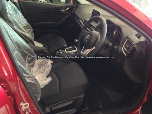 2014 Skyactiv Mazda 3 2.0L Interior