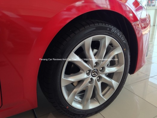 All new Skyactiv Mazda 3 2.0L 215/45 R18 wheels