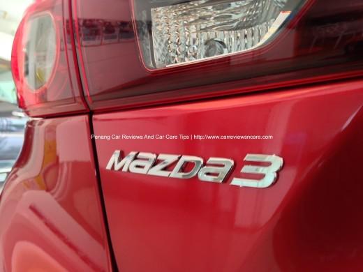 2014 Skyactiv Mazda 3 2.0L Badge