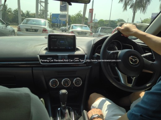 """2014 Skyactiv Mazda 3 2.0L with i-Eloop on the 7"""" full-color touchscreen display"""