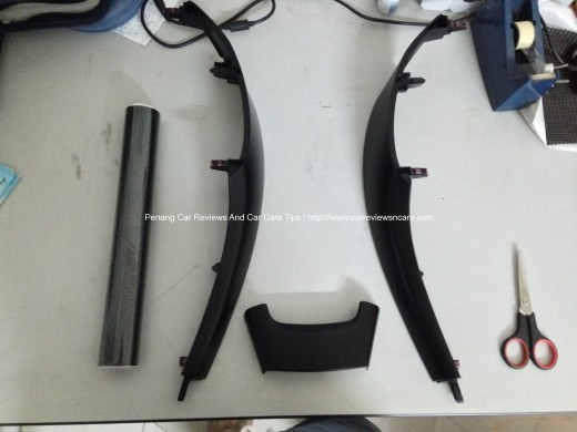 Toyota Vios Interior Trim and Carbon Fiber Vinyl