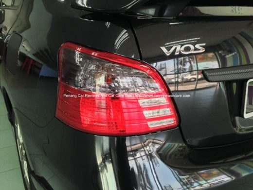 black tint film on Toyota Vios tail lamp