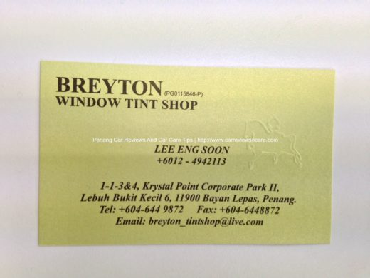BREYTON name card